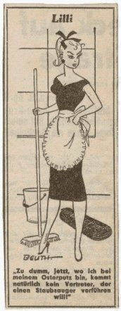 Lilli Cartoon -- inspiration for Lilli doll and then Barbie