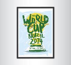 FIFA World Cup 2014 Print by KieranCarrollDesign on Etsy, €13.00