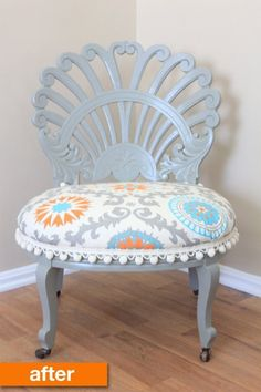 Before & After: A Cheery, Spring-Like Vintage Vanity Chair Rescue | Apartment Therapy