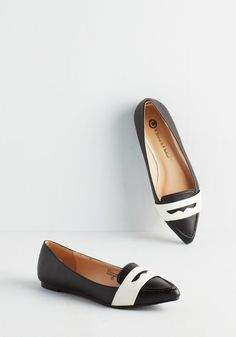 Intern of the Century Flat in Black, #ModCloth