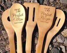 Bamboo Engraved Utensil Set,5 piece Engraved Utensil Set,Personalized Utensils, Bamboo Utensil Set, Shower Gift, Housewarming Gift, Utensils