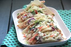 BBQ Chicken Wonton Tacos with Sesame Slaw - Alaska from ScratchAlaska from Scratch