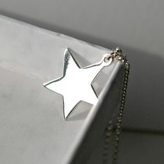 Weeks Until Christmas, Lucky Star, Star Pendant, Star Necklace, Silver Stars, Sterling Silver Chains, Jewelry Shop, Modern, Etsy