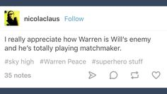 Tumblr; Sky High; Warren Peace
