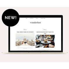 Hello Wanderlust :v:  The magazine style template with big featured post and column category pages  Check it out in our Etsy shop :heavy_multiplication_x: Link in profile  #wanderlust #travellers #travel #travelblogger_de #travelblogger #fashionblogger_de
