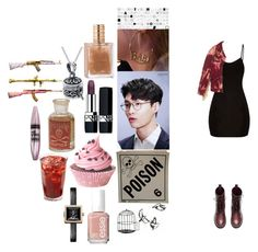 """lay-exo"" by chanbaek614 ❤ liked on Polyvore featuring Makelike, H&M, Gucci, Christian Dior, Bling Jewelry, Essie, Maybelline and Vivienne Westwood"