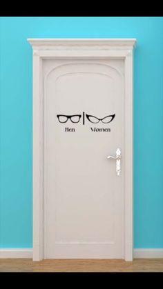 gender neutral door at #Optometrist #design ... And it's a cool #font too via @FrauDesigner