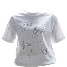 Hand Gesture T-shirt ($25) ❤ liked on Polyvore featuring tops, t-shirts, shirts, tees, t shirts and tee-shirt
