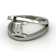 Gemini Zodiac Ring, Sterling Silver Ring
