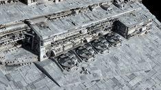 Imperator-class Star Destroyer Redux by Ansel Hsiao, Fractalsponge Star Wars Ships, Star Wars Art, Star Wars Models, Imperial Army, Sci Fi Ships, Star Destroyer, Movie Props, Geek Culture, Warfare