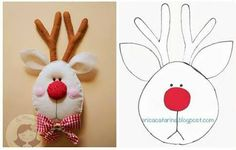 DIY Felt Rudolph the Reindeer - FREE Pattern / Template