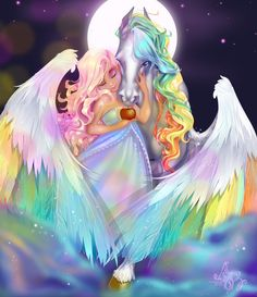 Diy diamond painting mosaic full square rhinestones cartoon Cross Stitch diamond embroidery Pegasus angel girl for child gift Unicorn And Fairies, Unicorn Fantasy, Anime Art Fantasy, Unicorns And Mermaids, Unicorn Art, Unicornios Wallpaper, Fairy Wallpaper, Horse Wallpaper, Unicorn Pictures