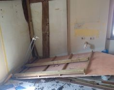Stripping out of old bathroom.