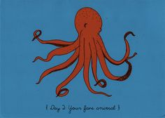 Day 2: Your fave animal, Octopus #30DayDrawingChallenge