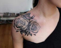 Rose tattoo Endorfine Studio Rzeszów