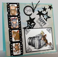 House-Mouse & Friends Monday Challenge: Anything Masculine for Challenge Scrapbooking, Scrapbook Cards, Camera Cards, House Mouse Stamps, Mouse Color, Cute Mouse, Ppr, Animal Cards, Digi Stamps