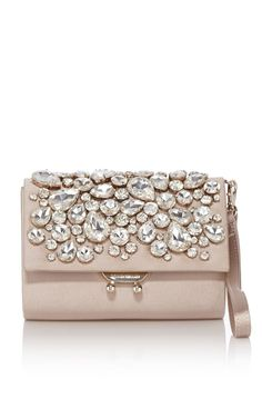 karen millen gold satin and crystal box clutch#prom