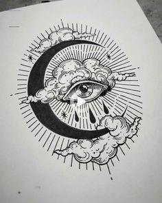 New Tattoo Designs, Tattoo Design Drawings, Pencil Art Drawings, Cool Art Drawings, Tattoo Sketches, Art Drawings Sketches, Drawing Tattoos, Eye Drawings, Flash Art Tattoos