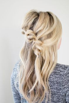 """I'm about a year late on the pull-thru trend, but now that my hair is long enough to really play around with, I've been enjoying trying out new """"faux"""" braiding styles! Did y…"""