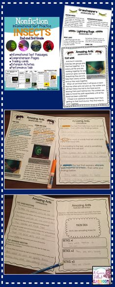 Engage your students in nonfiction informational text passages that are high interest! Learn all about bees, grasshoppers, lightning bugs, dragonflies, and ants! Each insect has 4 comprehension pages that can be used with collaborative groups or partners, guided instruction, whole class, or at centers.