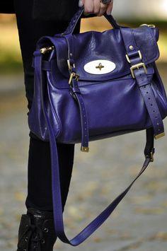 Gorgeous royal purple Mulberry handbag. Such a lovely designer. Mulberry  Alexa 046fb2e2d3382