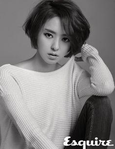 Lee Da Hae Brown Short Bob Side Part