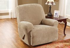 Sure Fit Slipcovers Stretch Royal Diamond Recliner - Recliner