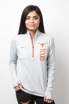 4273ff9685d5e Brave the elements with the Texas Longhorn Ladies Dri-FIT Element Pullover  from Nike!