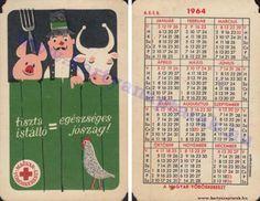 1964 - 1964_0158 - Régi magyar kártyanaptárak Pocket Calendar, Retro, Cards, Pockets, Pocket Diary, Maps, Retro Illustration, Playing Cards