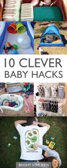 10 clever baby hacks // helpful tips for toddlers