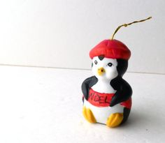 Vintage Ceramic Penquin Christmas Bell by Giftco by RenewedFinds, $4.99