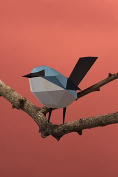 Aves de papel/ Paper birds on Behance by Estudio Guardabosques