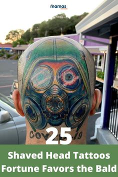 25 Shaved Head Tattoos That Prove Fortune Favors the Bald  A shaved head tattoo is a tattoo right on the skull that is only visible if the person with it has a shaved head or is bald. These designs are something else!  #ShavedHeadTattoos #Tattoos