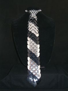 Scale Maille Necktie/Chainmaille Necktie by AmandaLynnChainmail, $75.00