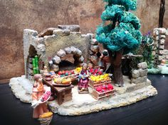 Pesebres en icopor- fruteria 1 Christmas Ideas, Christmas Decorations, Ideas Para, Gingerbread, Party, Nativity Sets, Birth, Nativity Scenes, Manualidades