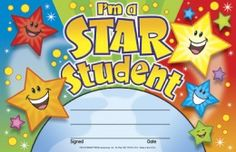 I'm a Star Student Recognition Awards Easy-to-personalize recognition awards. Reward progress and achievement with cheerful awards children are proud to take home. Easy to personalize and customize for each child and occasion. For primary grades. Kids Awards, Student Awards, Award Certificates, Certificate Templates, Preschool Certificates, Education Certificate, Printable Certificates, Star Students, High School Students