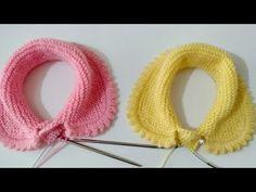 En Güzel Bebek Yaka Modeli Yapımı #doll#collar#model#crochet - YouTube Baby Cardigan Knitting Pattern Free, Knitting Videos, Crochet Videos, Baby Knitting Patterns, Knitting Stitches, Knitting Designs, Knit Art, Crochet Flower Tutorial, Collar Designs