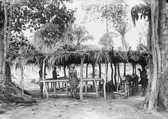 THE MAPINGA, AT OKONDO'S VILLAGE. 3 SORCERERS AT WORK. Locale: OKONDO'S VILLAGE, CONGO BELGE
