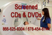 Screened CDs and DVDs for Medical Applications