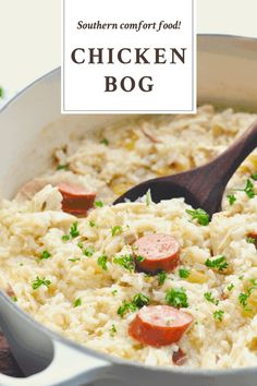 It might have a funny name, but Chicken Bog is a classic Southern comfort food that stands the test of time. Like a cross between chicken-rice soup and risotto, this cozy combination of chicken, smoked sausage and rice is a flavorful dish that's been loved for generations.