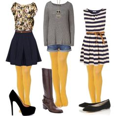 Mustard tights. Already have some,   now I know what to wear with them.