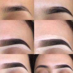 My eyebrow routine using ABH pomade - Eyebrows 🤨 Eyebrow Makeup Tips, Skin Makeup, Eyeshadow Makeup, Beauty Makeup, Makeup Looks Tutorial, Eyebrow Tutorial, Perfect Eyebrows Tutorial, Routine, Baddie Makeup