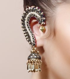 FOOLJHADI - Multicoloured Embellished Earrings Click on the photo to shop this product! :)