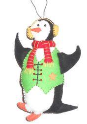 Mr. Peterman Fabric Penguin Ornament