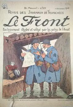 WWI, French Trench Magazine 'Le Front' Dec 1916. -Gueule D'Ange (@jeu_gueuledange) | Twitter