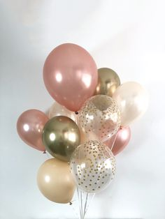 Tips and Trick on Birthday Party Ideas Peach Blush, Blush And Gold, Gold Birthday, Birthday Balloons, Birthday Party Decorations, Graduation Party Decor, Rose Gold Chrome, Rose Gold Balloons, Gold Bridal Showers