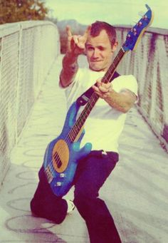 flea :) one of the best rock bass players of all time