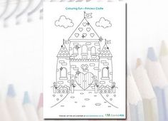Download this free printable Princess castle colouring page for some creative fun with your little princess.