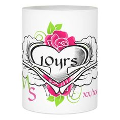 Personalized Anniversary 1st 5th 10th 15th 20th Flameless Candle