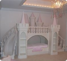 I want my dad to make this for my baby when she is ready for a big girl bed! :)